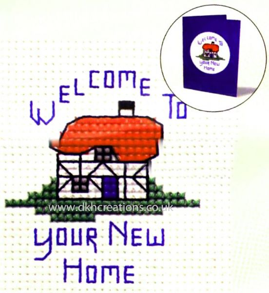 New Home Card Cross Stitch Kit